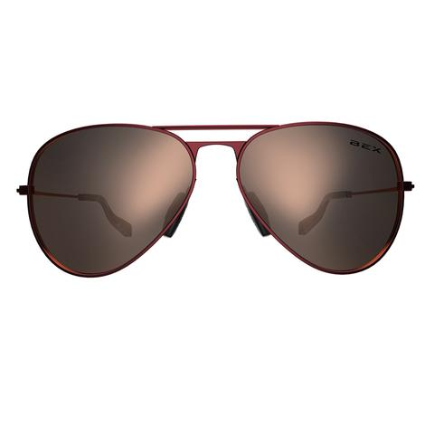 Wesley Burgundy Gold Echo Lens BEX Sunglasses