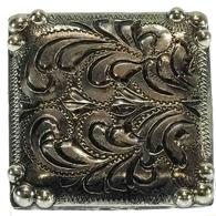 Wildrags Silver Square Concho Scarf Slide