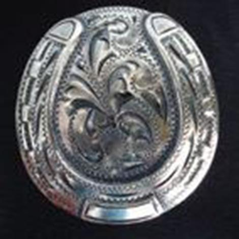 Wildrags Silver Horseshoe Concho Scarf Slide