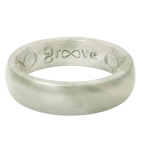 Groove Thin Pearl Silicone Ring
