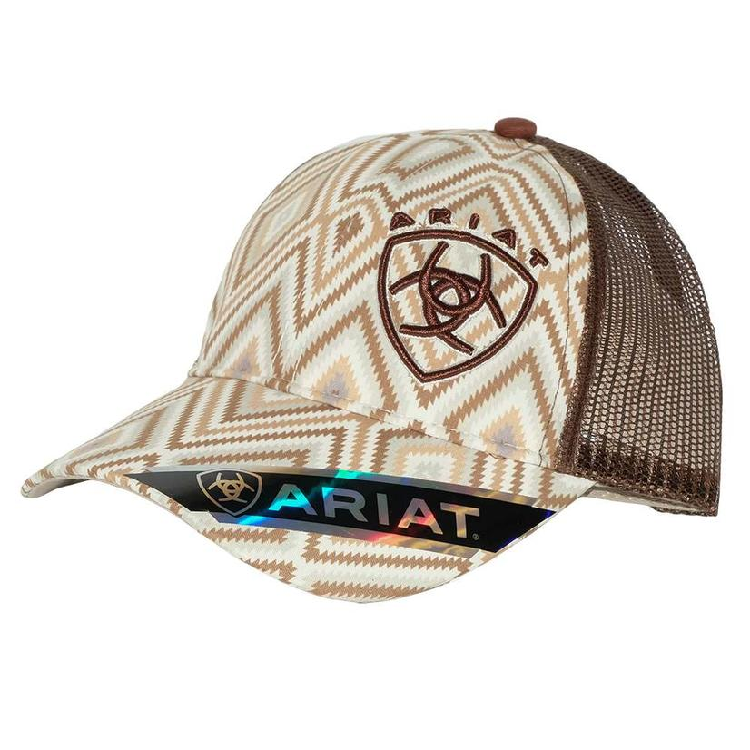 Ariat Brown Aztec Meshback Cap