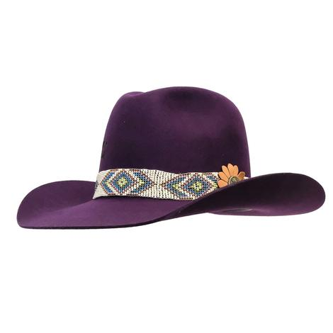 Charlie 1 Horse Buzzin Purple Felt Hat