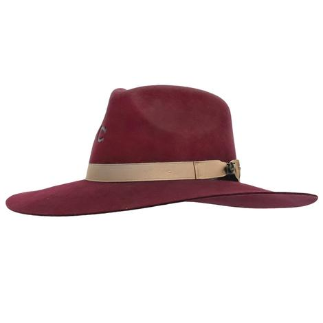 Charlie 1 Horse Highway Burgundy Felt Hat
