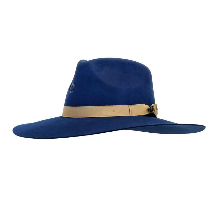 Charlie 1 Horse Highway Navy Felt Hat