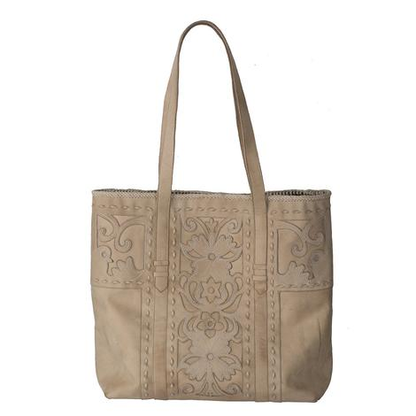Lane Boots Robin Inlay Bone Tote