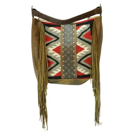 Keep It Gypsy Navajo Louis Vuitton Strip Rosie Red and Black Tote