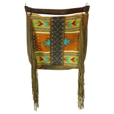 Keep It Gypsy Navajo Luis Vuitton Strip Orange Rosie Tote