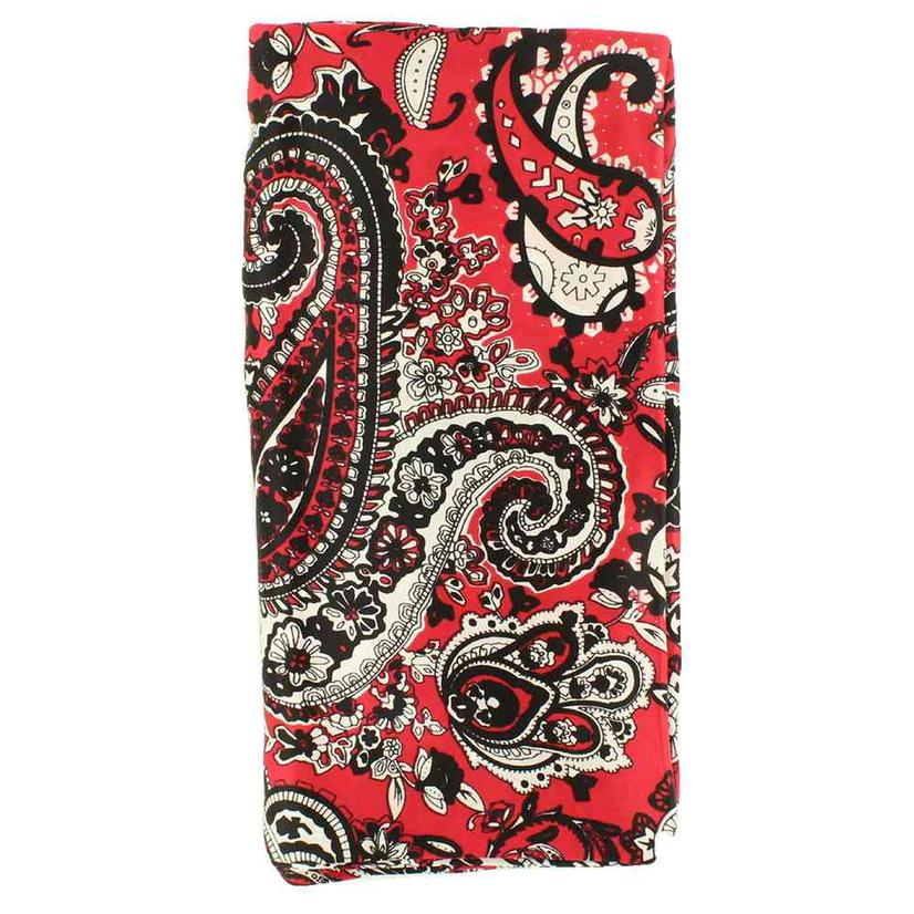 Wild Rags Silk Paisley Prints RED_PAISLEY