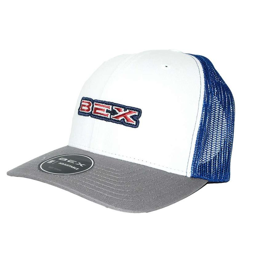 Bex Trapper Navy And White Meshback Cap