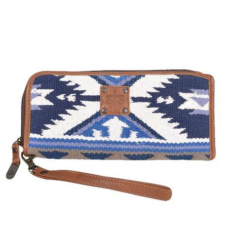 STS Ranchwear Blue Durango Serape Clutch