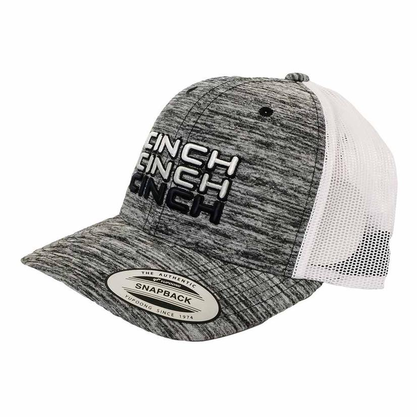 Cinch Grey And White Meshback Cap
