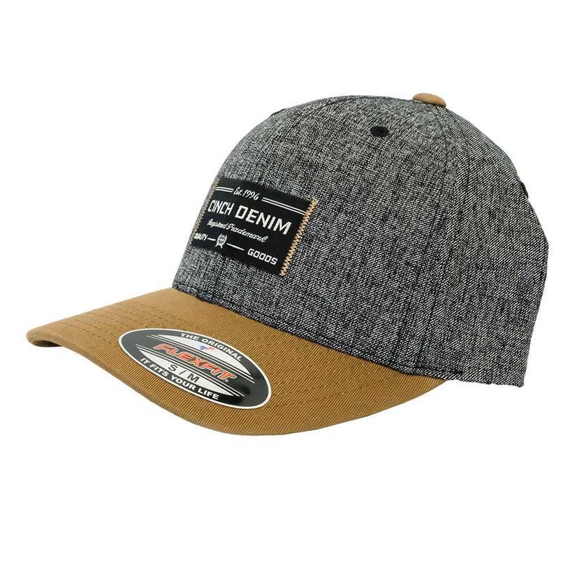 Cinch Tan And Grey Denim Cap