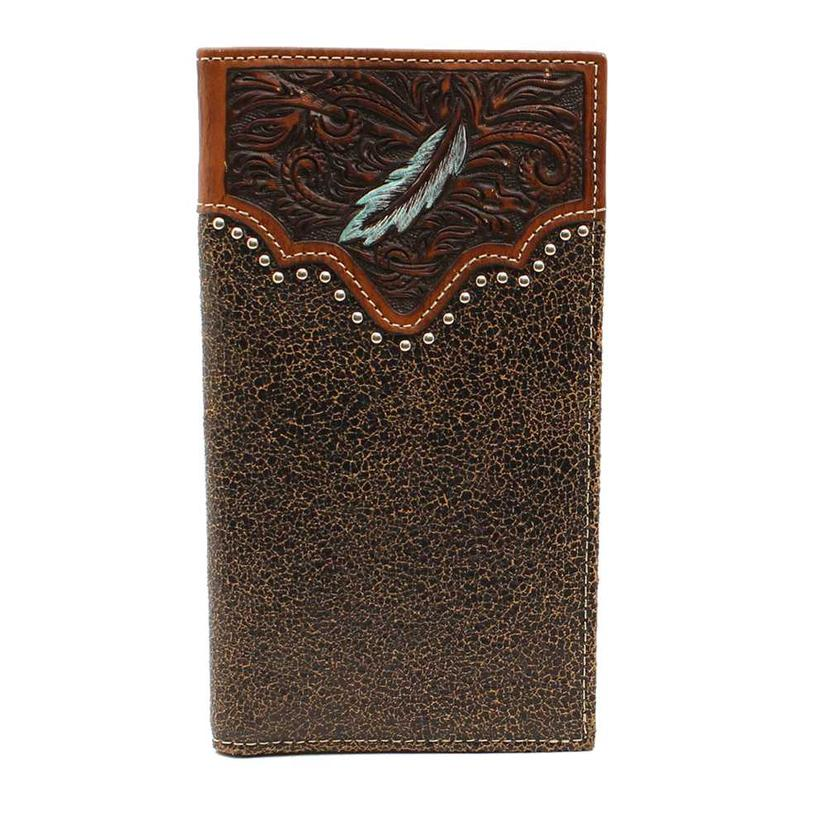 Ariat Brown Feather Rodeo Leather Wallet
