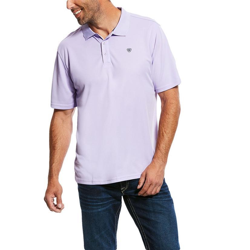 Ariat Tek Polo Haze Drift Purple Short Sleeve Men's Shirt