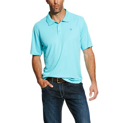 Ariat Tek Polo Cool Aqua Short Sleeve Men's Shirt