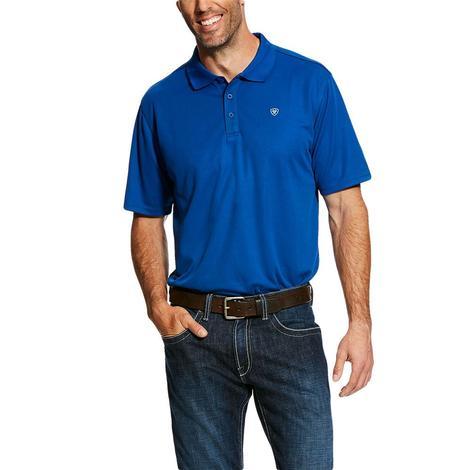 Ariat Tek Polo True Blue Short Sleeve Men's Shirt