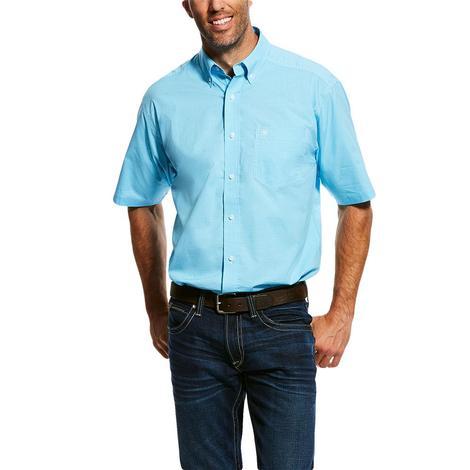 Ariat Aquarius Plaid Pro Series Stretch Buttondown Short Sleeve Men's Shirt