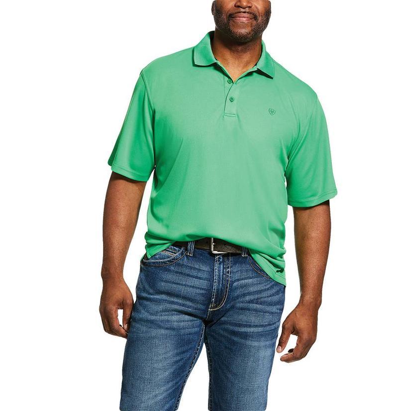 Ariat Tek Polo Fern Green Short Sleeve Men's Shirt
