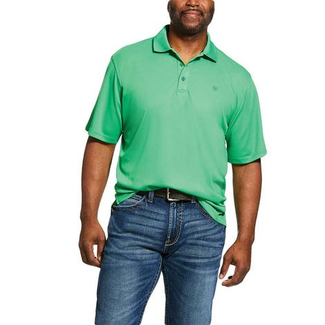 Ariat Tek Polo Fern Green Short Sleeve Men's Shirt