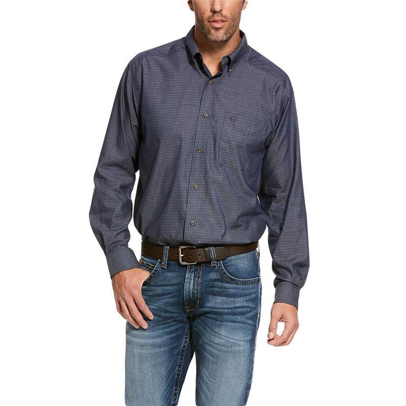Ariat Searson Night Sky Print Long Sleeve Button Down Men's Shirt