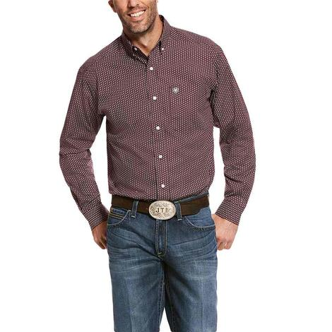 Ariat Taylan Ancho Shile Print Long Sleeve Buttondown Men's Shirt