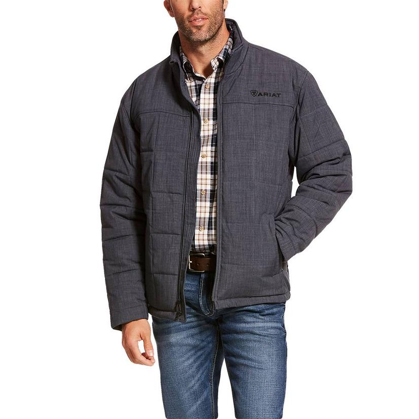 Ariat Crius Insulated Water Resistant Slate Heather Zipup Men's Jacket