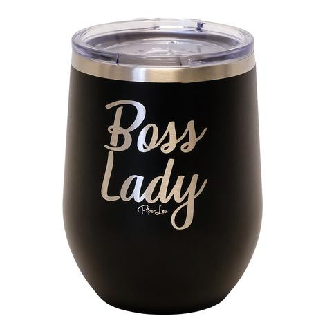 Piper Lou Boss Lady Black Wine Cup 12oz