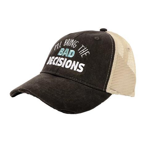 I'll Bring the Bad Decisions Black Meshback Cap