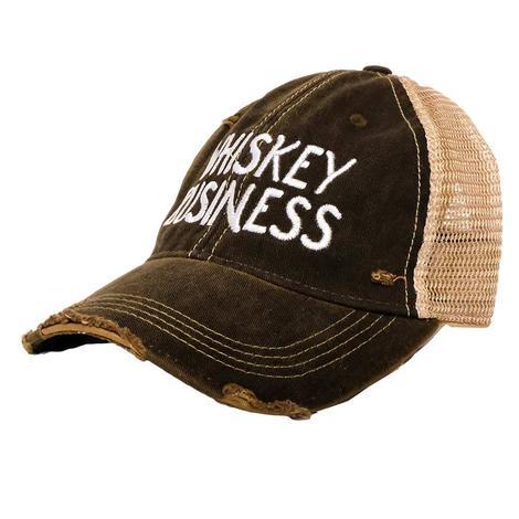 quality design 7e466 8cd1b Whiskey Business Black Meshback Cap