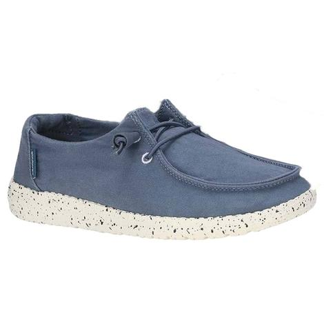 Hey Dude Wendy Steel Blue Slip On Women's Shoe