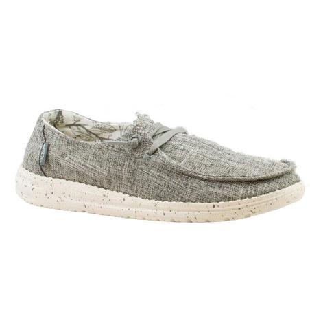 Hey Dude Wendy Linen Iron Slip On Women's Shoes