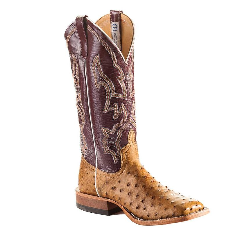 Anderson Bean Brown And Tan Full Quill Ostrich Danube Mad Dog Men's Boots