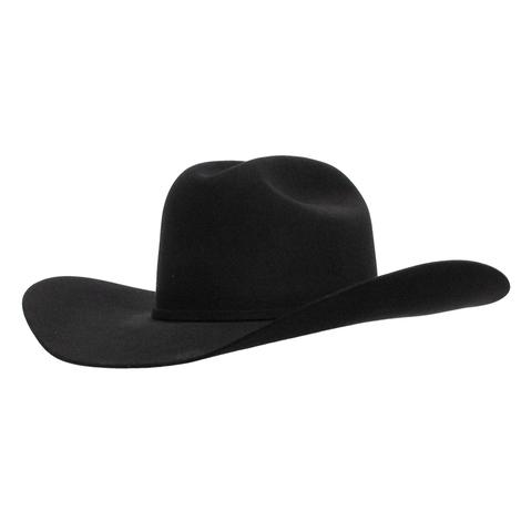 Rodeo King Low Rodeo 5x Black Felt Cowboy Hat