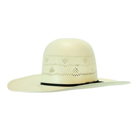 American Hat Company Open Crown 4.25 Brim Straw Hat Long Oval