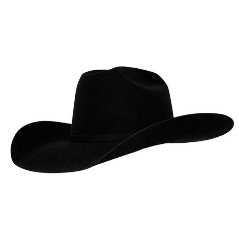 10X American Hat - Black Felt Long Oval
