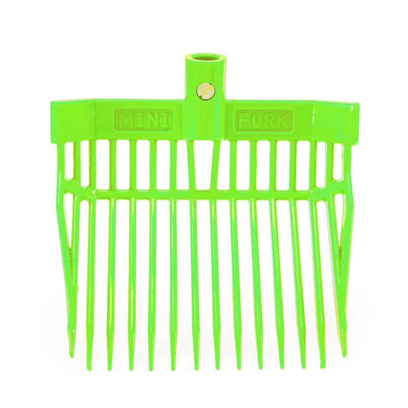 K&D Equestrian Mini Stall Fork LIME_GREEN
