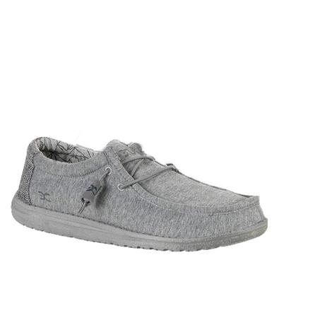 Hey Dude Wally Stretch Fleece Grey Men's Shoes