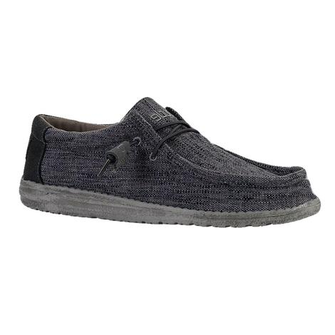 Hey Dude Wally Woven Carbone Men's Shoes