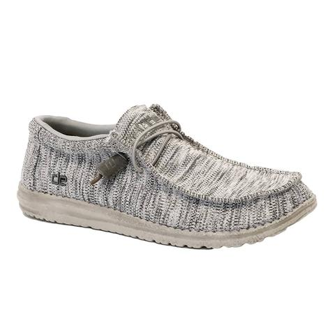 Hey Dude Wally B Sox Grey Men's Shoes