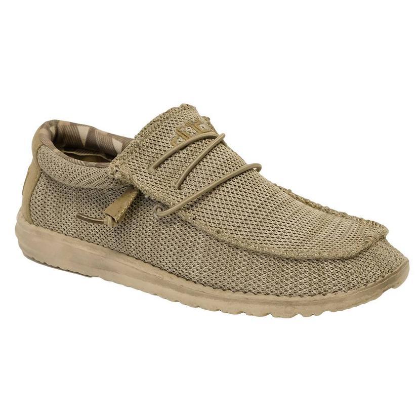 Hey Dude Wally Sox Beige Men's Shoes