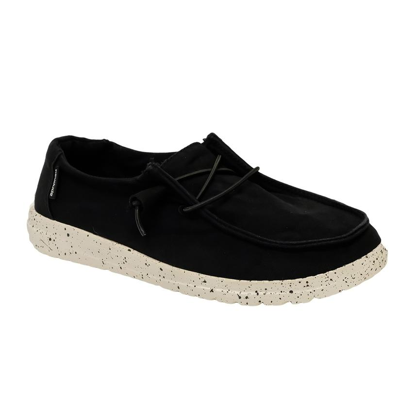 Hey Dude Wendy L Black Lace Up Women's Shoes