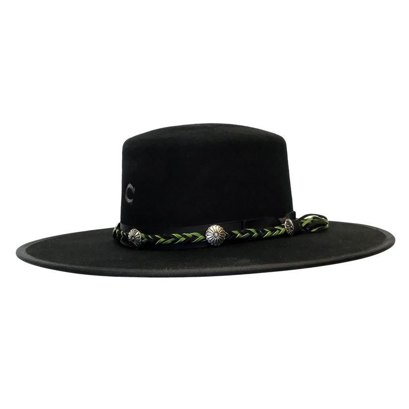 Charlie 1 Horse Country Thunder Black Felt Hat 4in Brim