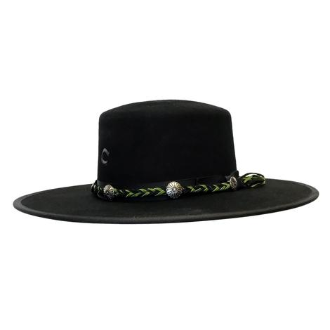 Charlie 1 Horse Country Thunder Black Felt Hat 4in Brim
