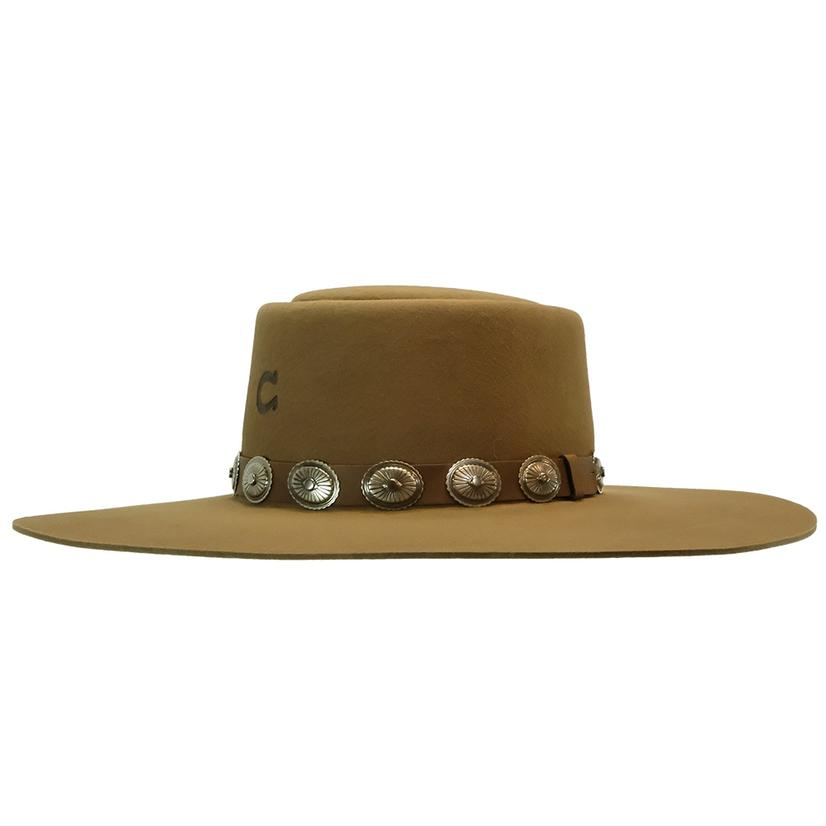 Charlie 1 Horse High Desert Pecan Felt Hat With Concho Band
