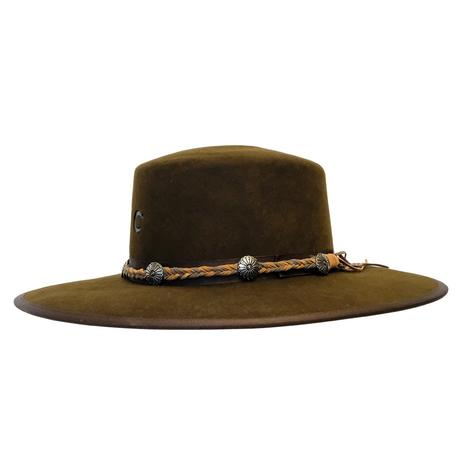 Charlie 1 Horse Country Thunder Chocolate Felt Hat with Braided Leather Band