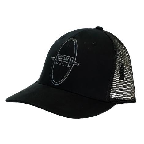 STT Bar Nothing Black on Black Meshback Cap