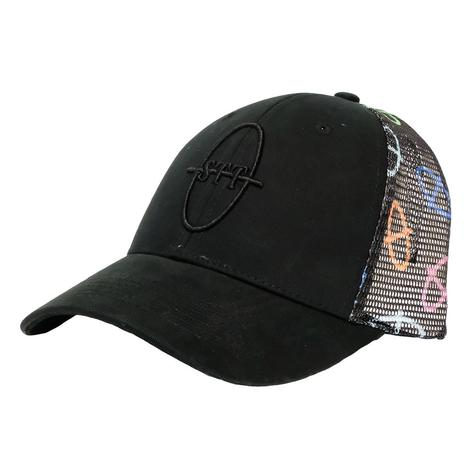 STT Bar Nothing Black Meshback Cap with Neon Brands