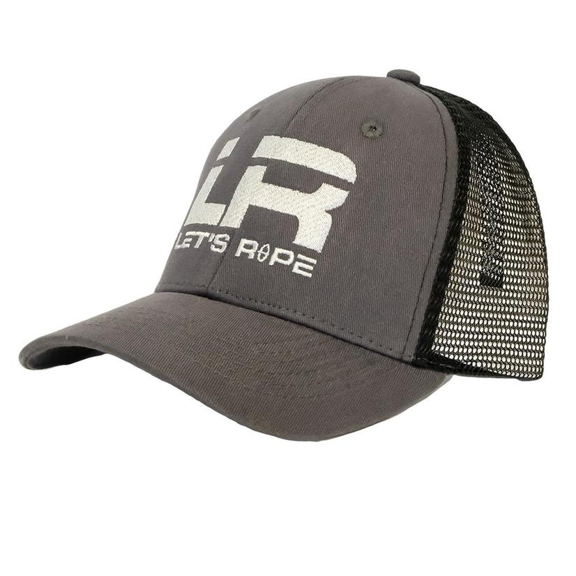 Let's Rope Gray And Black Meshback Cap - Youth