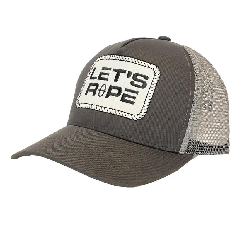 Let's Rope Grey Patch Meshback Cap
