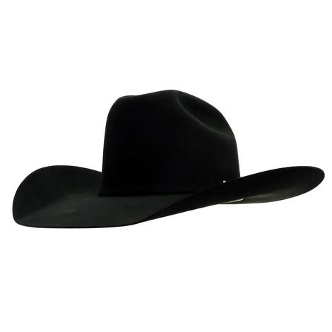 STT Pure Beaver Black Felt Hat 4.5in Brim
